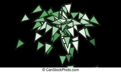 triangles card mosaics explosion