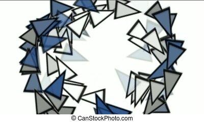 triangles card mosaics round
