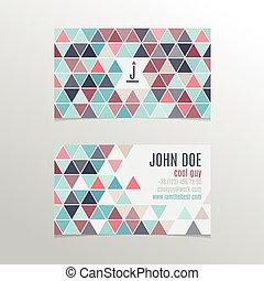 triangles, carte, business, conception