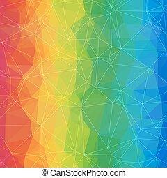 triangles., coloré, asymétrique, résumé, clair, fond, géométrique