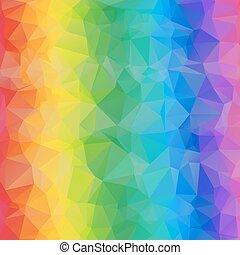 triangles., coloré, résumé, clair, fond, géométrique