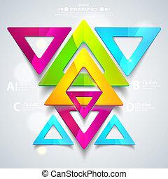 triangles., firma, abstrakt, illustration, vektor, geometriske, præsentation, din