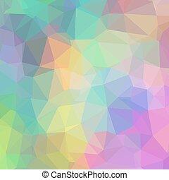 triangles., géométrique, fond, délicat, coloré