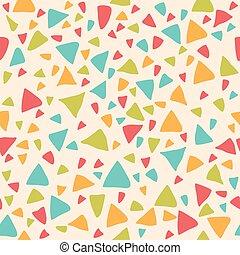 triangles., geomã©´ricas, seamless, padrão experiência