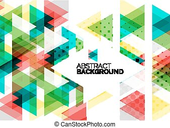 Triangles, geometric clean abstract background