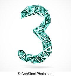 triangles., geometrisch, nummer drie