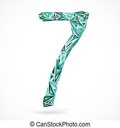 triangles., geometrisch, nummer zeven