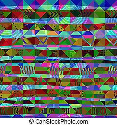 triangles., illustration., patrón, seamless, vector, ...