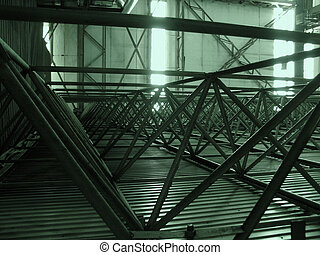 triangles - industrial interior