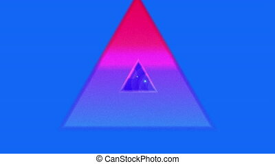 Triangles on blue background
