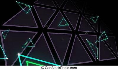 Triangles on dark background
