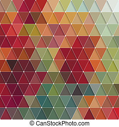 Triangles Pattern - Vector Abstract Colorful Triangles...