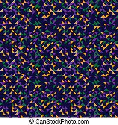 Triangles Pattern - Retro pattern on blue background