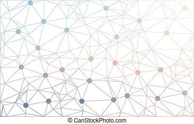 triangles., polygone, consist, résumé, wireframe, mesh., polygonal, vecteur