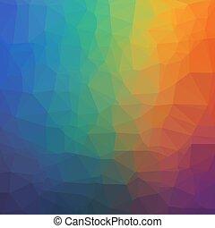 triangles., résumé, géométrique, fond, arc-en-ciel