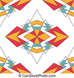 triangles., résumé, géométrique, fond
