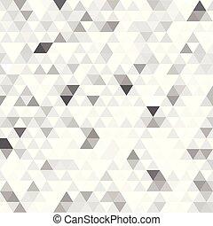 triangles, résumé, moderne, fond blanc