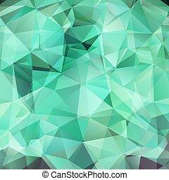 triangles, résumé, turquoise, fond