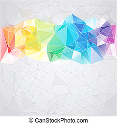 triangles, style, résumé, fond, triangulaire