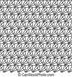 triangles., tegels, het herhalen, moderne, pattern., seamless, texture., vector, ontwerp, achtergrond, modieus, gestreepte , geometrisch