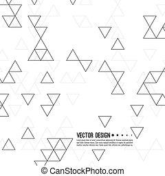 triangles., vecteur, modèle