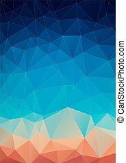 triangoli, geometrico, fatto, spettro, fondo