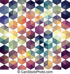 triangoli, modello, di, geometrico, shapes., colorito,...