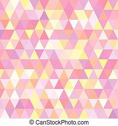triangoli, vettore, fondo, illustrazione
