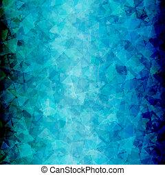 triangolo blu, verticale, astratto, sfondo nero