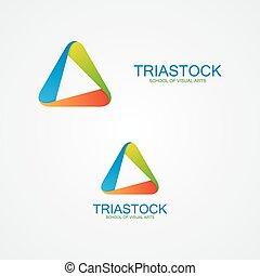 triangolo, disegno astratto, logotipo