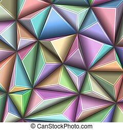 triangolo, modello, astratto, illustrazione, polygonal, vettore, geometrico, 3d