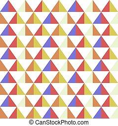 triangolo, modello, fondo, astratto, colorito, seamless