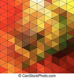 triangolo, mosaico, fondo