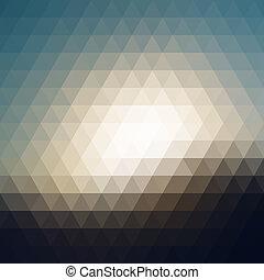 triangolo, pixel, mosaico, digitale