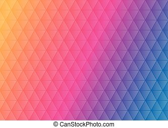 Abstract triangular pattern placed on colorful background