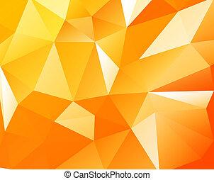 Triangular background - Triangular orange light background