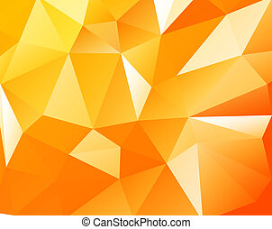 Triangular background - Triangular orange light background