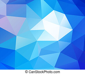 Triangular blue background