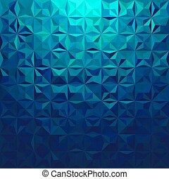 Triangular blue background.