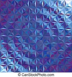 Triangular blue radial background.
