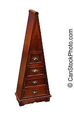 Triangular cabinet