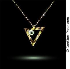 triangular, colgante