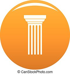 Triangular column icon vector orange
