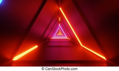 Triangular Interdimensional Laser Light Corridor 4k uhd 3d ...