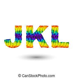 triangular letters jkl