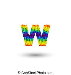 triangular letters w