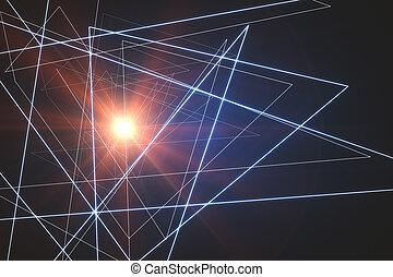 Triangular pattern background