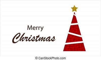 triangular red christmas tree