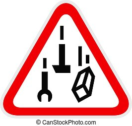 Triangular red Warning Hazard Symbol, vector illustration