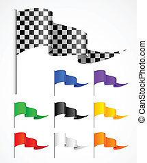 sport flag - triangular sport flag